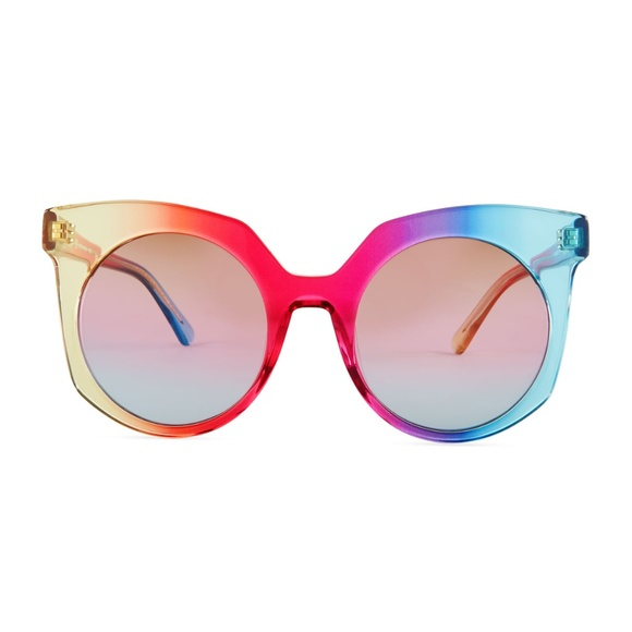 d1009b6688d2a MCM Punk Rainbow Cat Eye Sunglasses NWT